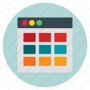 business, calender, template, website icon