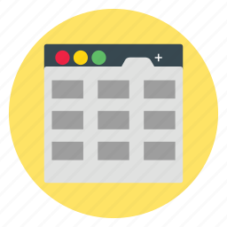 business, calender, template, tiles, website icon