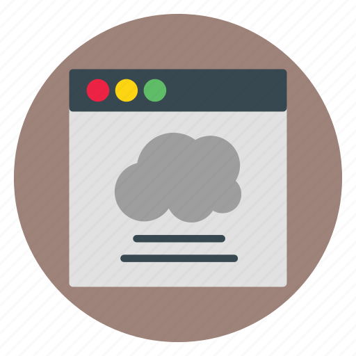 business, cloud, template, website icon