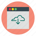 business, cloud, download, template, website icon