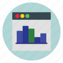 business, graph, template, website icon