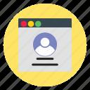business, profile, template, website