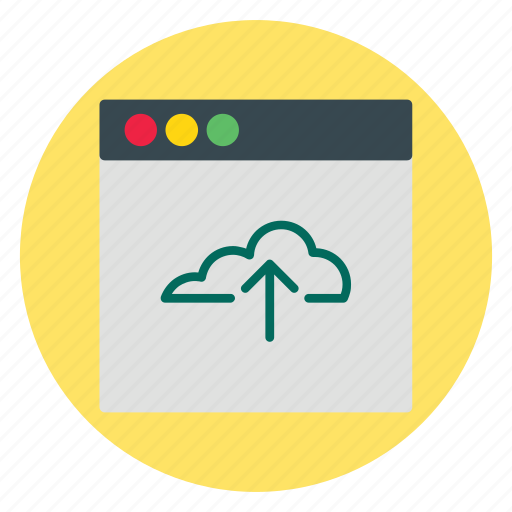business, cloud, template, upload, website icon