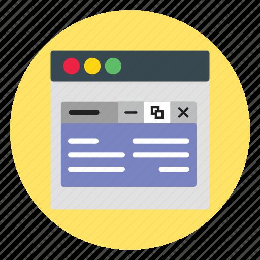 design, template, website, windows icon