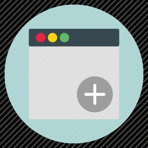 add, template, ui, website icon