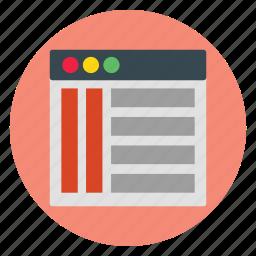 design, template, ui, website icon