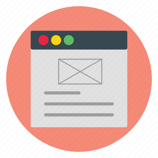 email, internet, template, ui, website icon