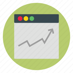 graph, rising, template, ui, website icon
