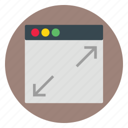 template, ui, website, zoom icon