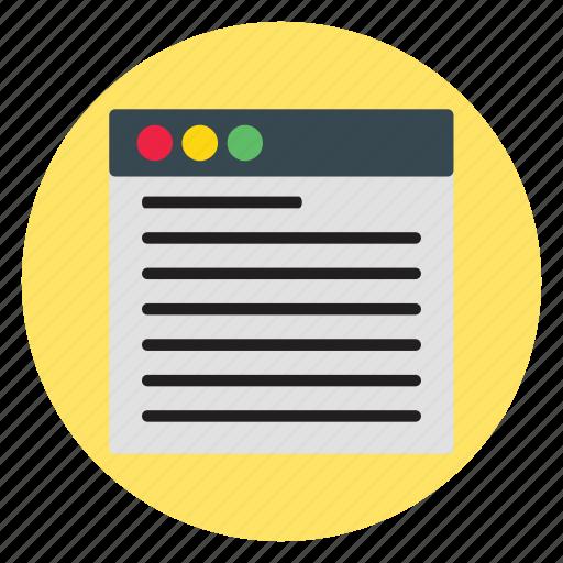 design, doc, template, text, web, website icon
