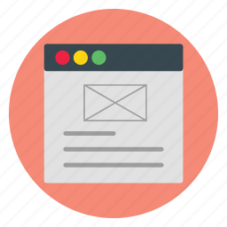 design, email, template, web, website icon