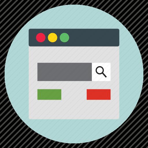 design, search, template, web, website icon