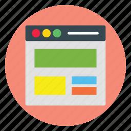 design, template, ui, web, website icon