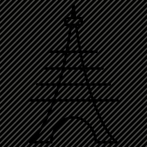 effiel, landmark, tower icon