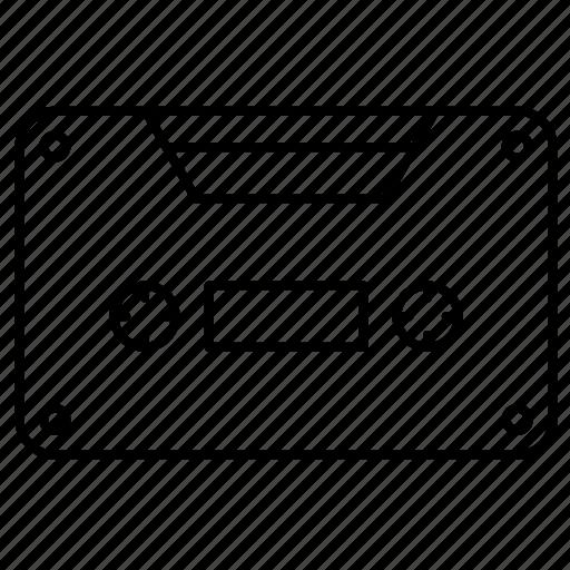 cassette, medium, storage icon