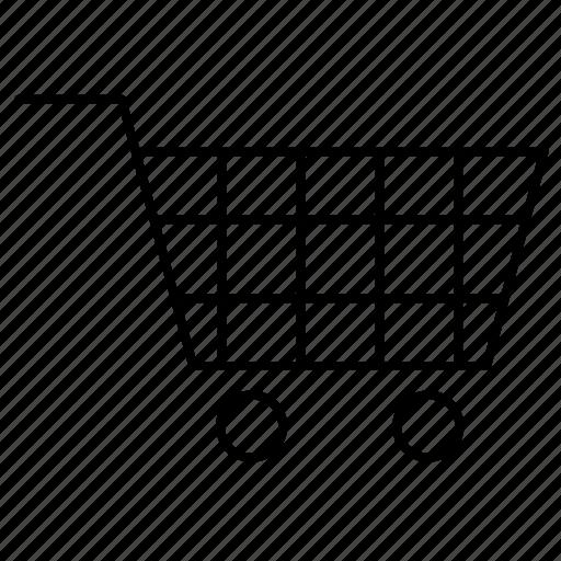cart, luggage, shopping icon