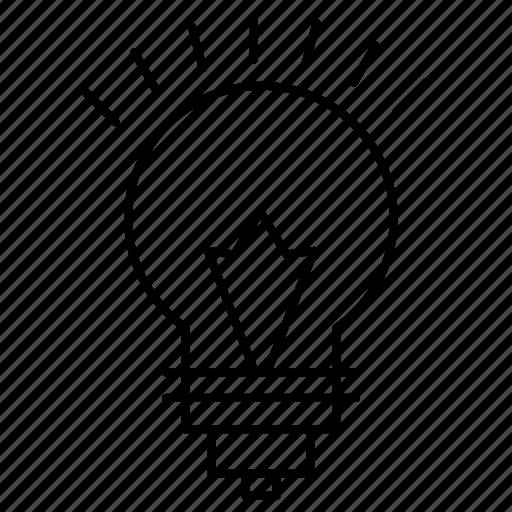 bulb, education, light icon