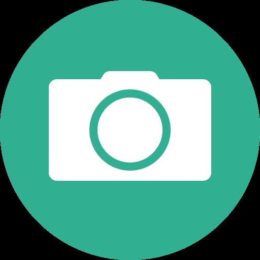 camera, circle, green, photo, photographer, photography, shutterbug icon