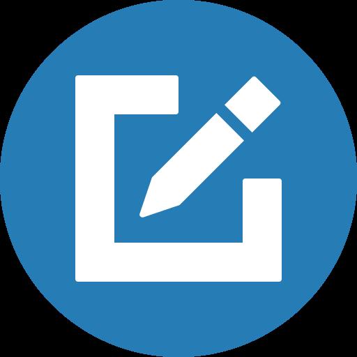 circle, compose, draw, edit, write icon