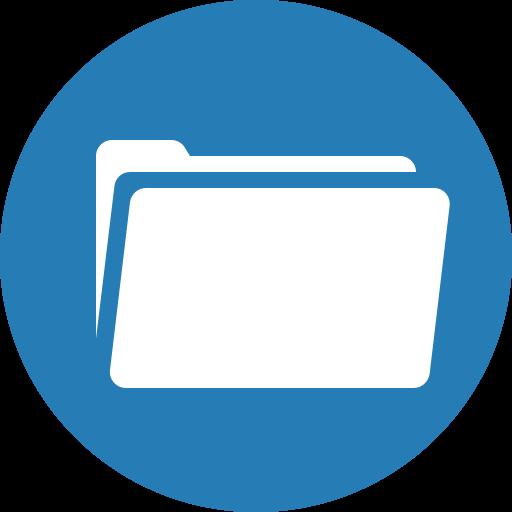 album, binder, circle, folder, portfolio, record icon
