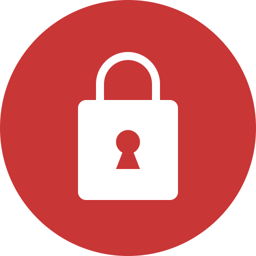 lock, red icon