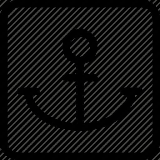 anchor, fix, stop icon