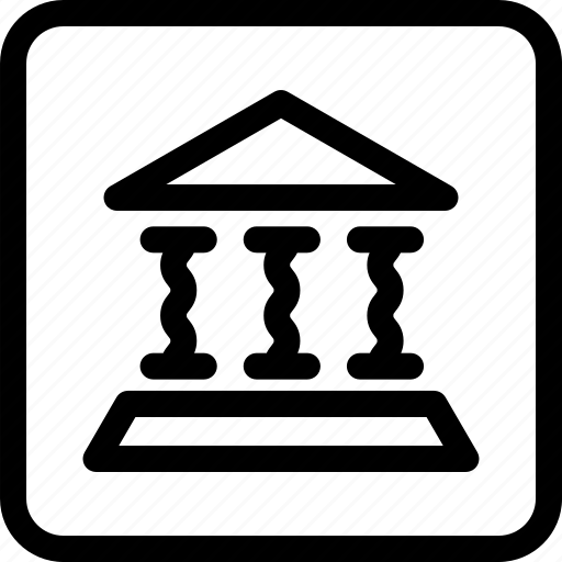 architecture, bank, building, construction, historical building icon