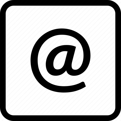 arobase, email, letter, message, send icon