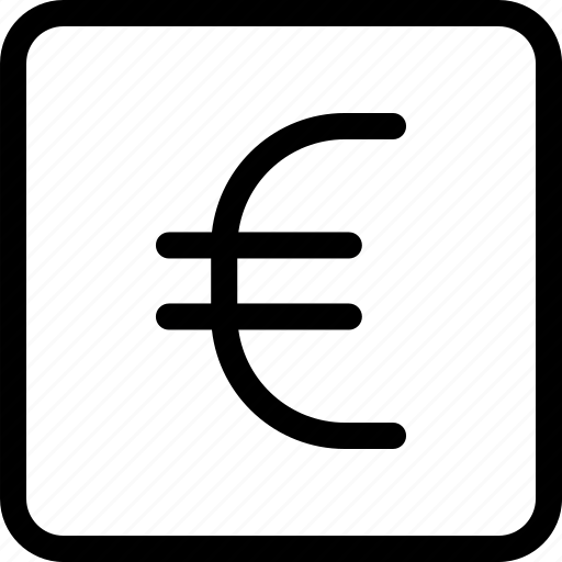 euro, euro currency, euro sign icon