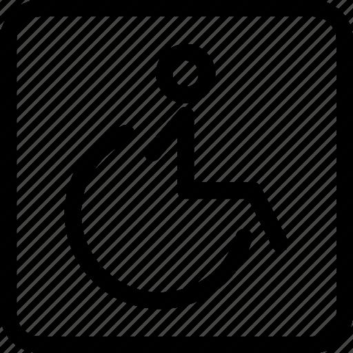 chair, handicap, handicap chair, wheelchair icon