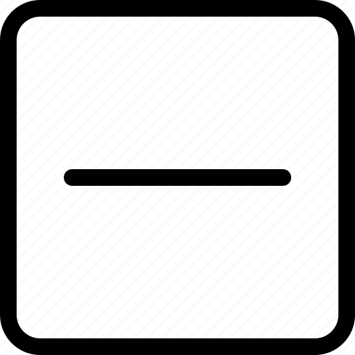 delete, hide, minus, remove icon