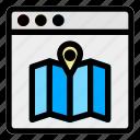 browser, desktop, gps, location, maps, navigation, website icon