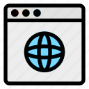 browser, computer, connection, desktop, internet, network, website icon