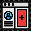 browser, desktop, file, profile, upload, user, website icon