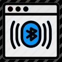 bluetooth, browser, desktop, media, sync, transfer, website icon