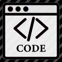 browser, code, computer, desktop, program, programmer, website icon