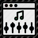 browser, desktop, equalizer, setting, sound, volume, website icon