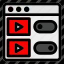 brwoser, cinema, desktop, film, movie, streaming, website icon