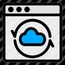 browser, cloud, desktop, server, sync, web, website icon