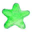 best, favorite, star, watercolour icon