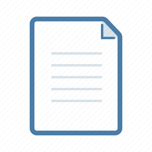 document, extension, file, format, page, portrait, text icon