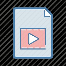 avi, document, file, film, movie, video, youtube icon