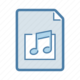 audio, file, listen, mp3, music, nota, wav icon