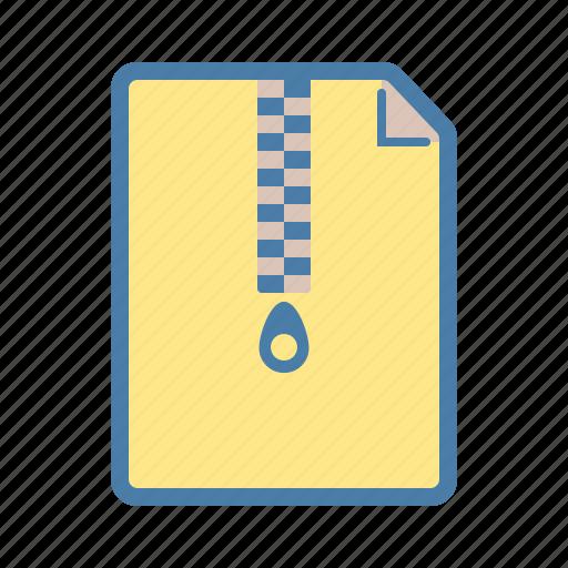 archieve, bundle, document, extention, file, zip, zipped icon