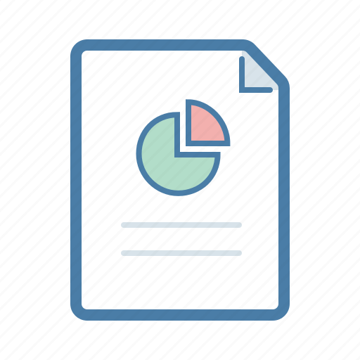 analytics, document, file, graph, pie chart, report, statistics icon