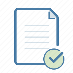 approve, checkmark, complete, document, done, file, page icon