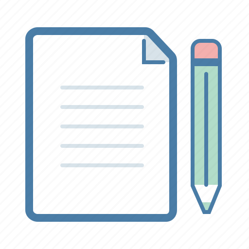 article, compose, document, file, page, pencil, write icon