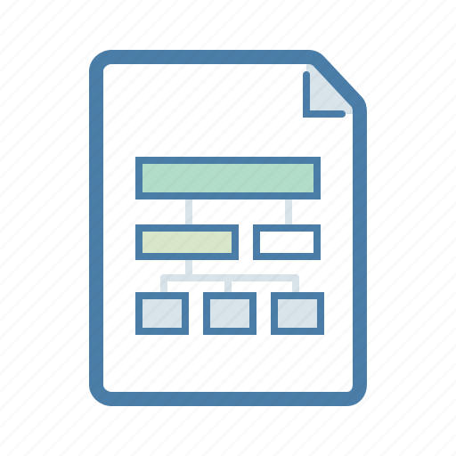 document, file, flowchart, hierarchy, page, site map, workflow icon