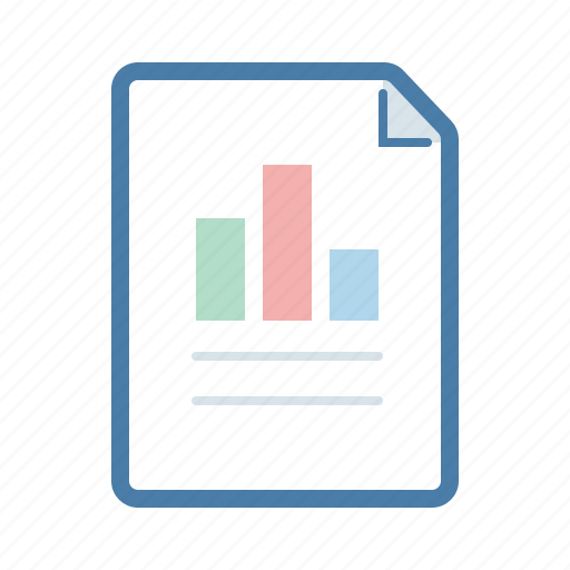 bars, document, file, graphics, page, report, statistic icon