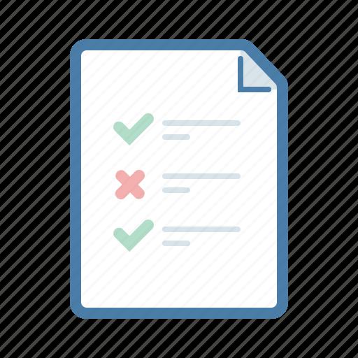 checklist, document, file, survey icon